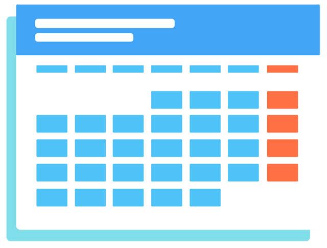 ネットショップ定休日カレンダー